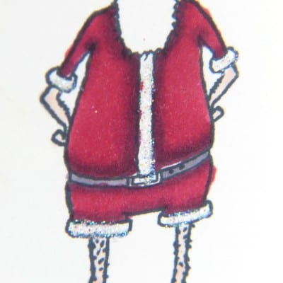 Crazy Santa with Stampin' Up! Visions of Santa and Blendabilities