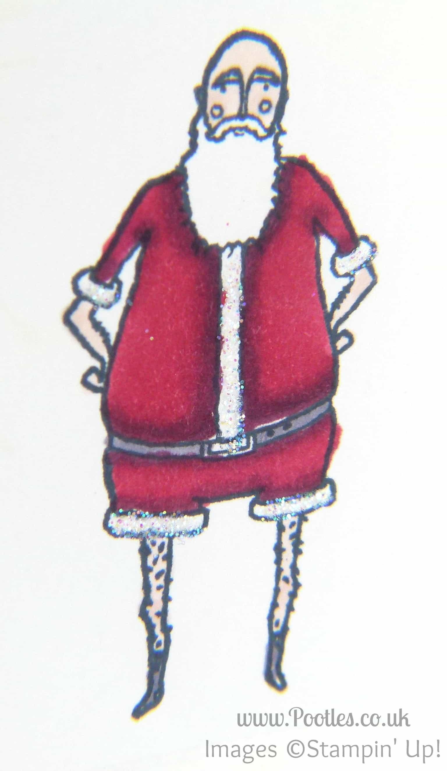 Crazy Santa with Stampin' Up! Visions of Santa and Blendabilities