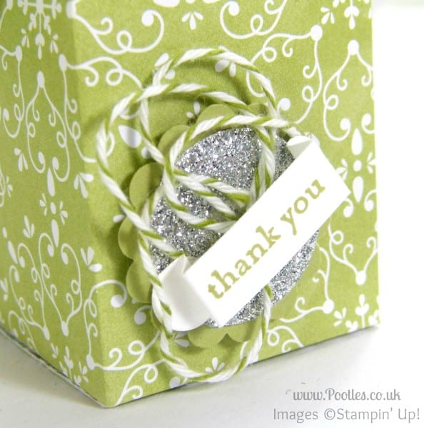 Stampin' Up! UK Demonstrator Pootles - Dinky Teacher's Tealight Gift Tutorial Close Up