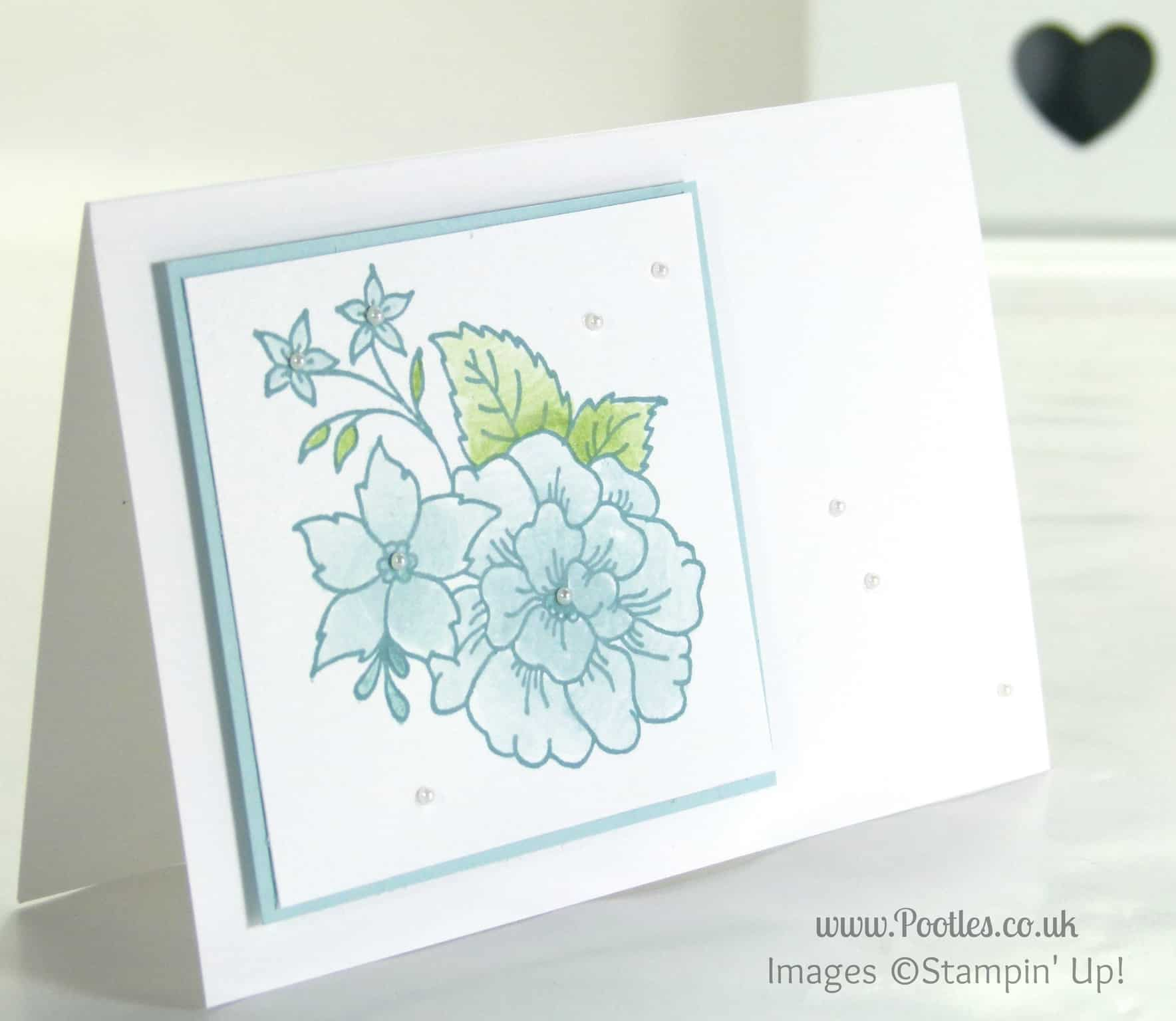 Gentle Card Using Stampin Up Hostess Exclusive I Like You Set