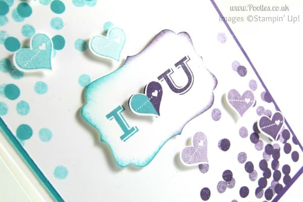 Stampin' Up! UK Demonstrator Pootles - Masculine Dotty Pictogram Punches with Angles... close up