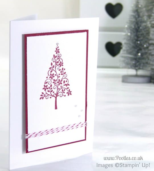 Stampin' Up! UK Demonstrator Pootles - Simple Christmas Card using Stampin' Up! Festival of Trees