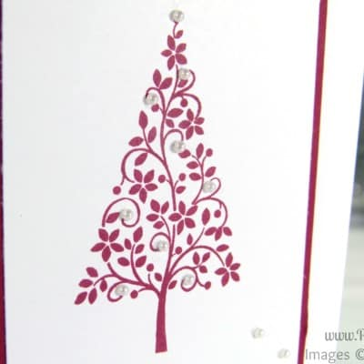 Simple Christmas Card using Stampin' Up! Festival of Trees