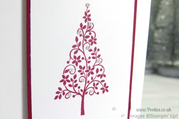 Stampin' Up! UK Demonstrator Pootles - Simple Christmas Card using Stampin' Up! Festival of Trees Close Up