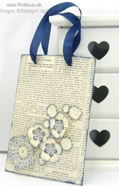 Typeset Paper Bag Tutorial Night of Navy