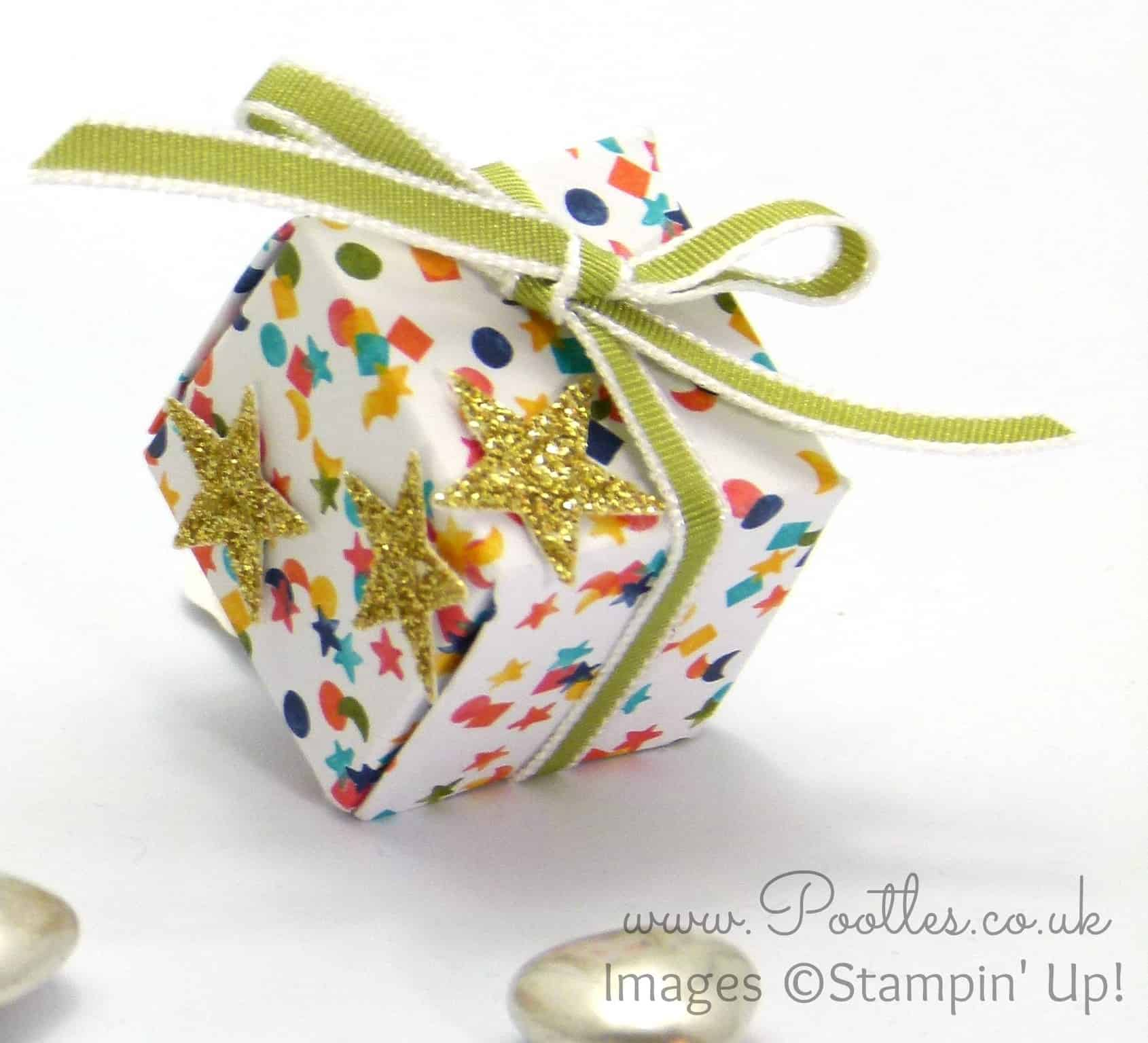 Inchie Box Tutorial using Stampin' Up! Birthday Bash DSP