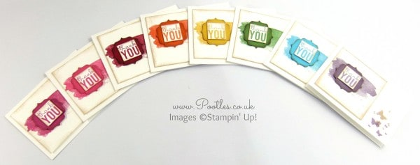 Pootles' Stampin' Up! Thank You Card Tutorial