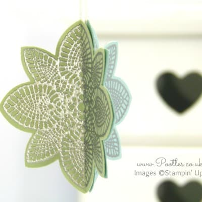 South Hill Designs & Stampin Up Sunday 3D Hanging Decoration Tutorial