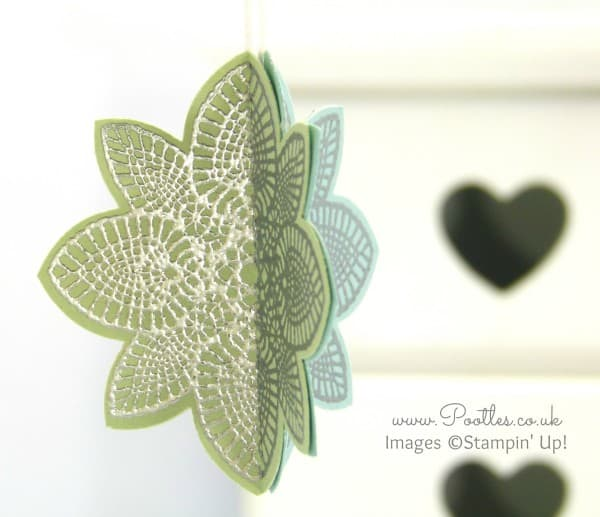 South Hill Designs & Stampin Up Sunday 3D Hanging Decoration Tutorial Pistachio Pudding Side