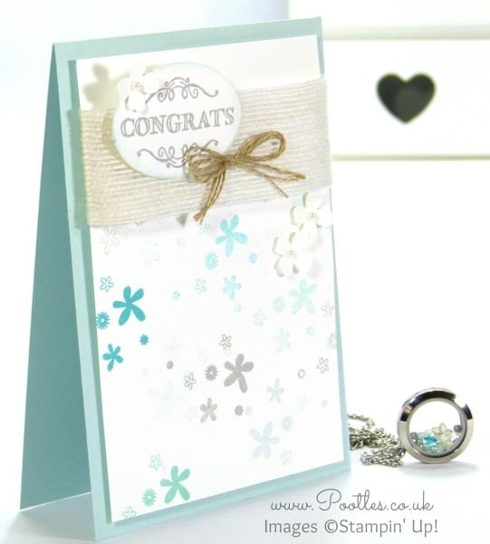 South Hill Designs & Stampin' Up! Sunday Blue Congratulations Card & Locket