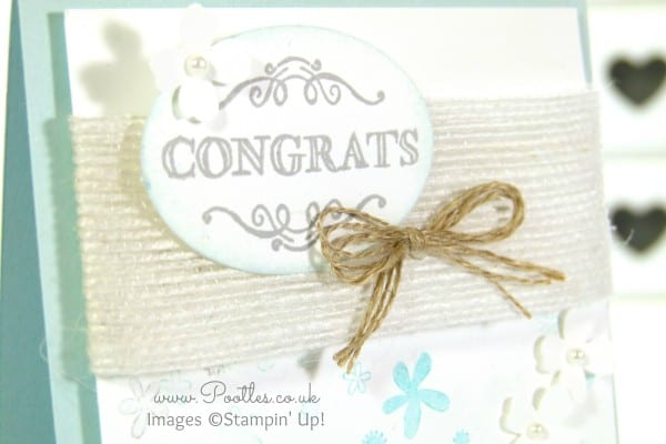 South Hill Designs & Stampin' Up! Sunday Blue Congratulations Card & Locket sale a bration stamp
