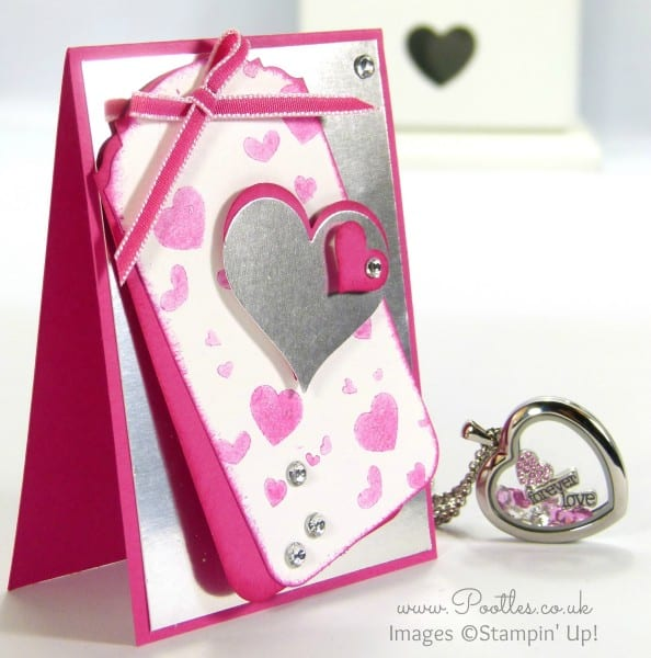 South Hill Designs & Stampin' Up! Sunday Hot Pink Heart Tutorial