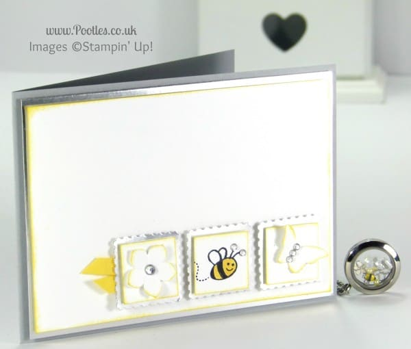 South Hill Designs & Stampin' Up! Sunday Pretty Inchie Card Tutorial