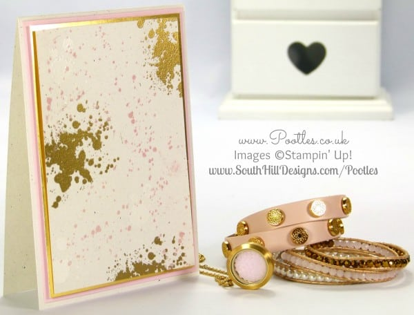 South Hill Designs & Stampin' up! Sunday Pinks, Golds, Whites