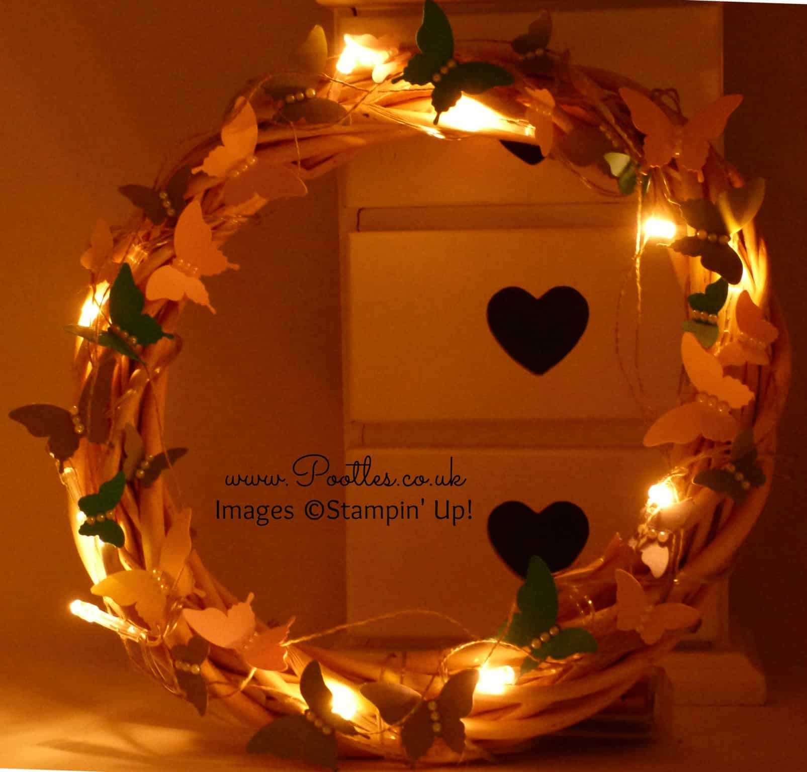 SpringWatch 2015 Butterfly Illuminated Wreath Tutorial