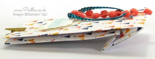 SpringWatch 2015 Fold Flat Birthday Bash Goodie Bag Tutorial Flattened Bag