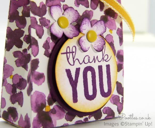 SpringWatch 2015 Painted Blooms Bag Tutorial Stamped Detail