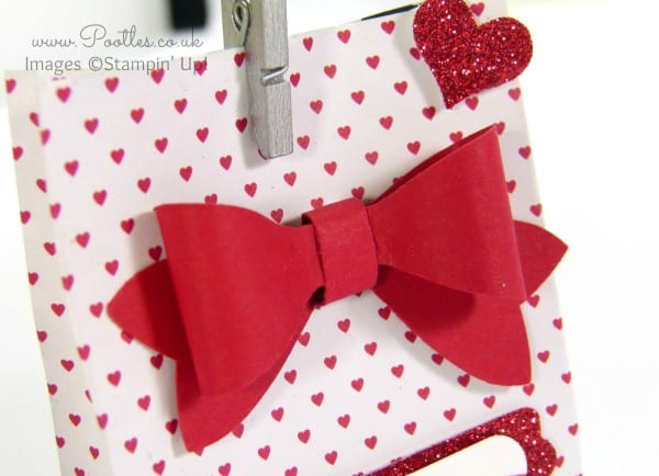 SpringWatch 2015 Red Heart Bow Bag Tutorial Bow Builder Detail