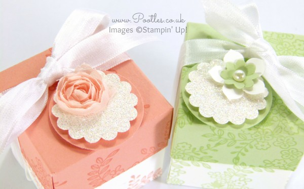 SpringWatch 2015 Tone on Tone Floral Lidded Favour Box Tutorial Embellishment Detail