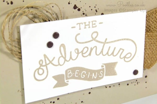 Stampin' Up! Demonstrator Pootles - Adventure Awaits Manly Card with Stampin' Up! Supplies Close Up