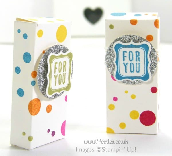 Stampin' Up! Demonstrator Pootles - Smarties Treat Boxes for Frenchie using Perpetual Birthday Calendar