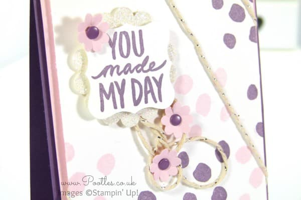 Stampin' Up! Sale a Bration Best Day Ever Card Close Up