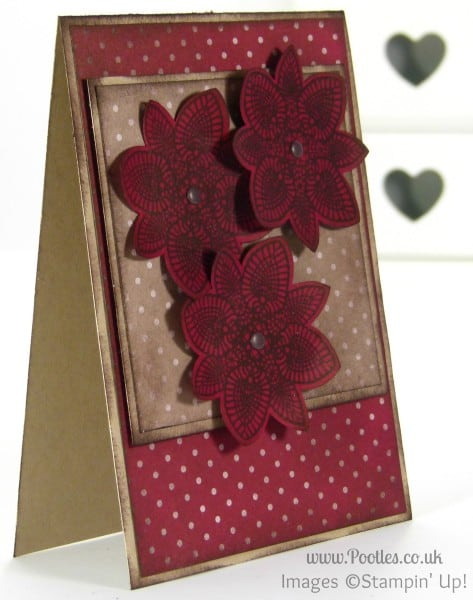 Stampin' Up! UK Demonstrator Pootles - Cherry Cobbler Petal Potpourri with Crumb Cake
