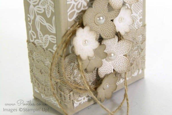 Stampin' Up UK Demonstrator Pootles - Lovely Little Box Tutorial using Stampin' Up! Supplies Close Up