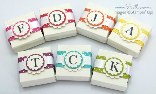 Stampin' Up! UK Demonstrator Pootles - Monogram Boxes Tutorial using Sophisticated Serifs