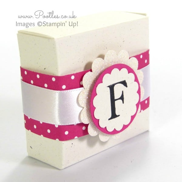 Stampin' Up! UK Demonstrator Pootles - Monogram Boxes Tutorial using Sophisticated Serifs Single