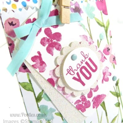 Painted Blooms Mini Treat Bag Tip Tutorial