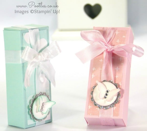 Stampin' Up! UK Demonstrator Pootles - Pastel Fold Over Box Tutorial + Flat Backed Cross Over Bow...