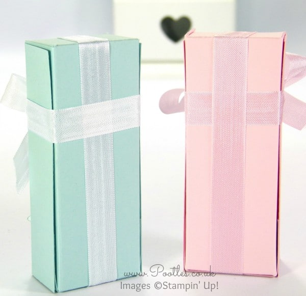 Stampin' Up! UK Demonstrator Pootles - Pastel Fold Over Box Tutorial Ribbon on the Back