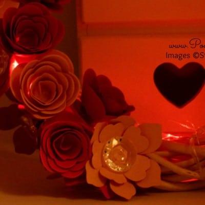 Spring Valentine's Wreath using Spiral Flower Die