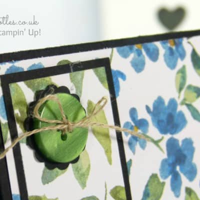 Thank You Card using Stampin' Up! Painted Blooms DSP