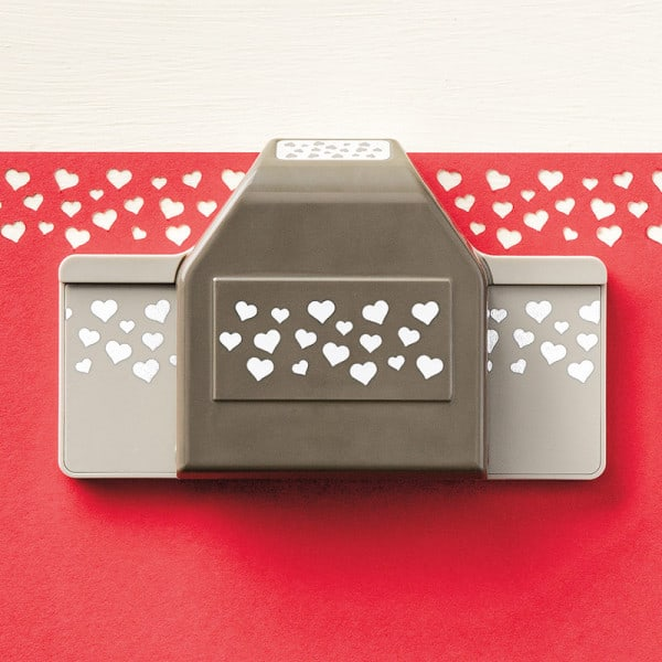 stampin up confetti heart border punch