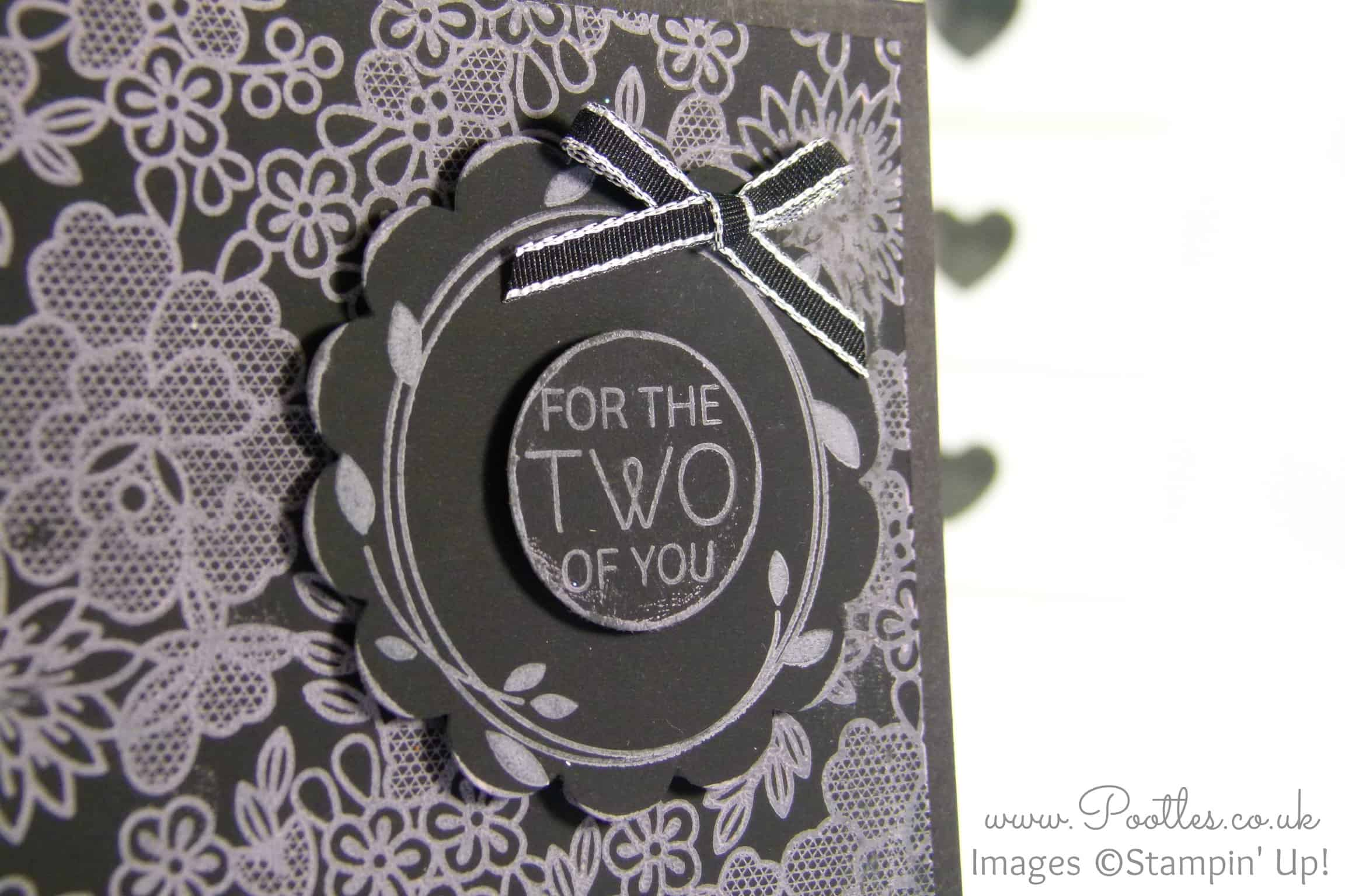 Chalkboard Card Technique using Stampin' Up! Something Lacy