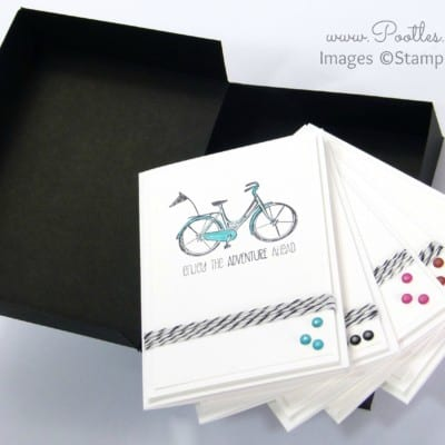 Life's Adventure Stampin' Up! Hostess Notecards Box Tutorial