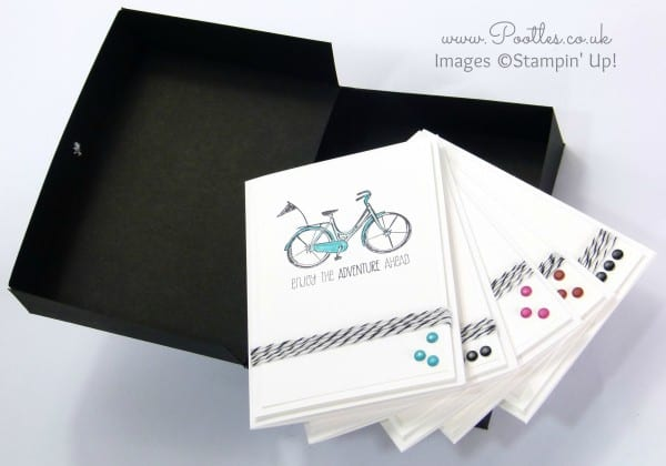 Life's Adventure Stampin' Up! Hostess Notecards Box Tutorial Open