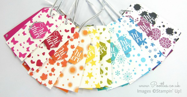 Perpetual Calendar Tags Tutorial using Stampin' Up! Supplies