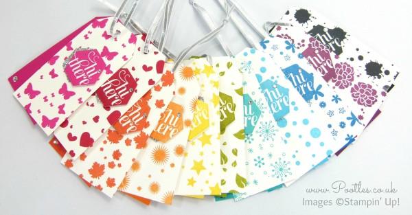 Perpetual Calendar Tags Tutorial using Stampin' Up! Supplies