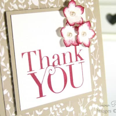 Pootlers Blog Hop Something Borrowed Thank You Card