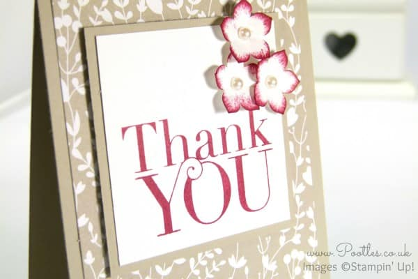 Pootlers Blog Hop Something Borrowed Thank You Card close up