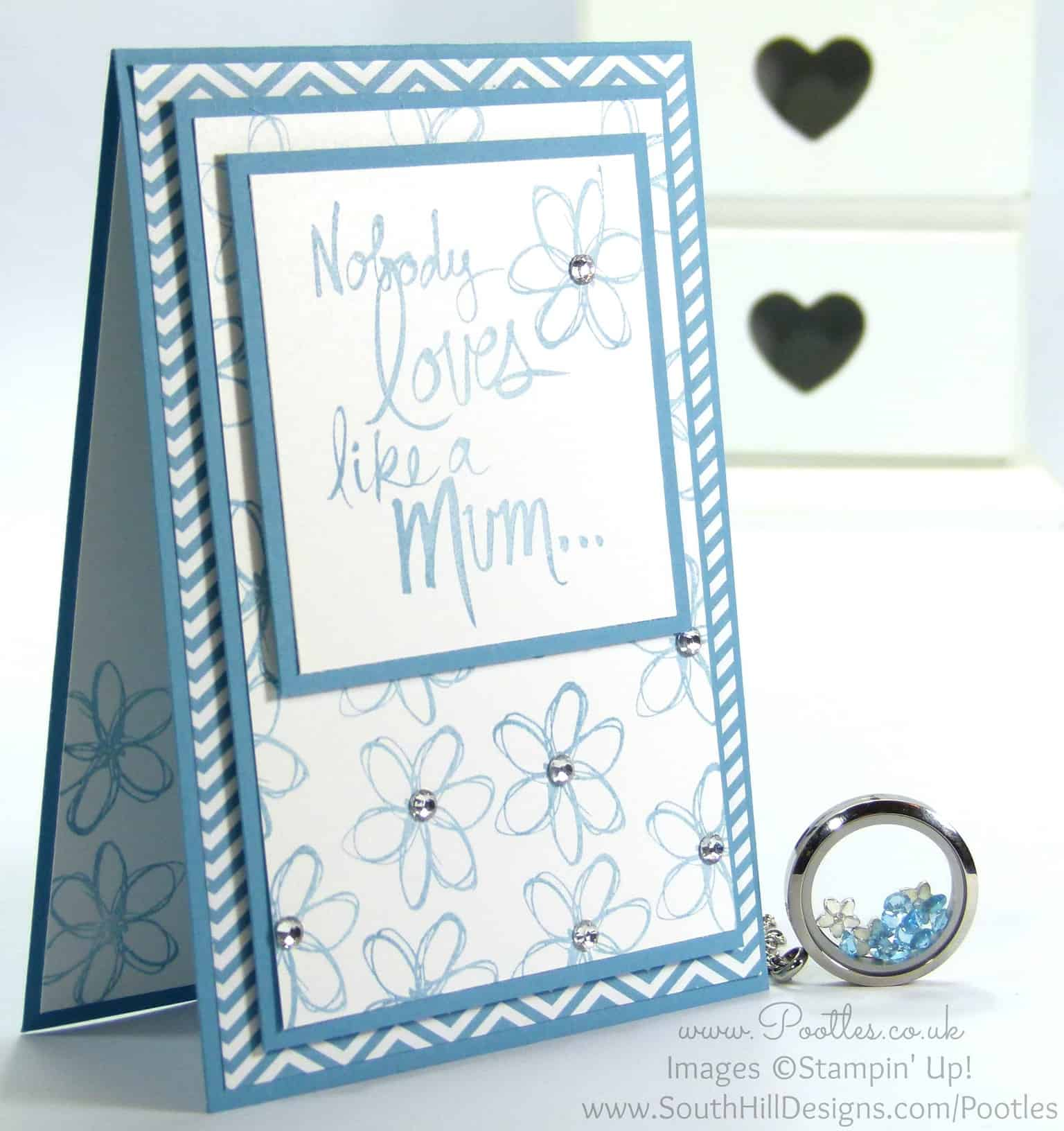 South Hill Designs & Stampin' Up! Sunday Mother's Day Card & Locket Tutorial