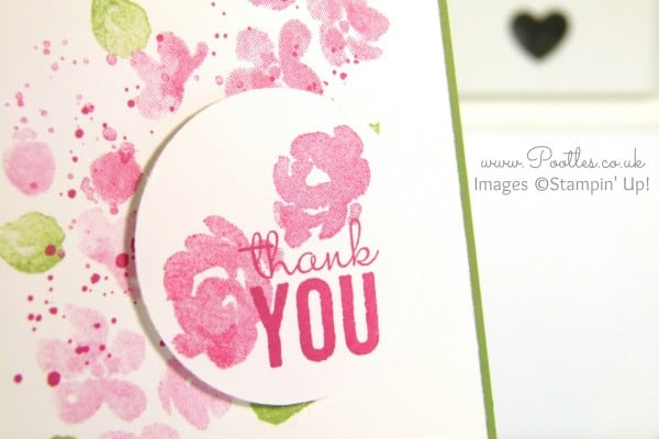 South Hill Designs & Stampin' Up! Sunday Painted Petals Locket and Card Close Up