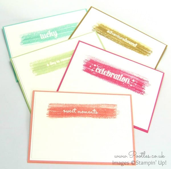 South Hill Designs & Stampin' Up! Sunday Watercolour Notecards Tutorial All 5 Cards