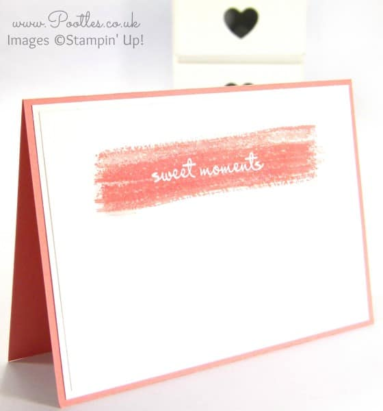 South Hill Designs & Stampin' Up! Sunday Watercolour Notecards Tutorial Single Cardd