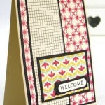 Stampin' Up Independent Demonstrator Pootles - Team Welcome Cards using Flashback DSP 3