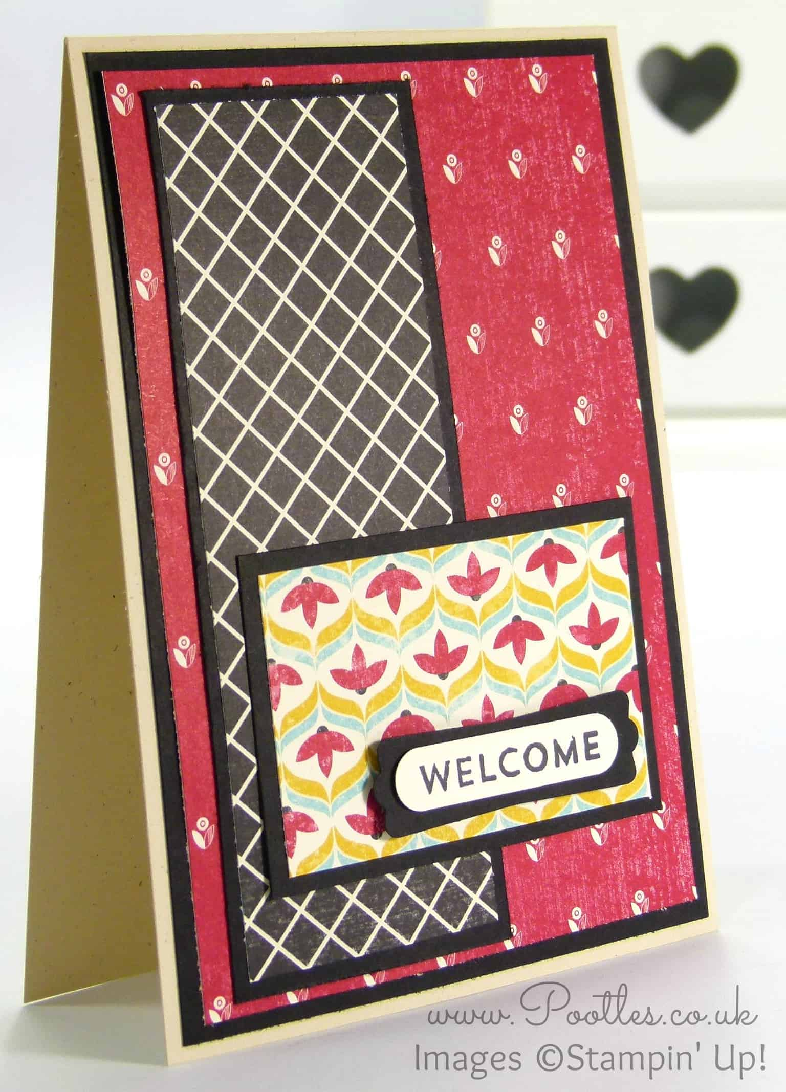 Join Stampin' Up! and Team Welcome Cards using Flashback DSP