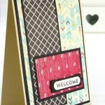Stampin' Up Independent Demonstrator Pootles - Team Welcome Cards using Flashback DSP 6